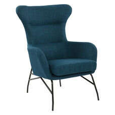 Ave Six Enzo Chair with Black Legs -Azure