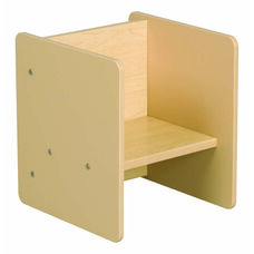 1000 Series Flip Chair and Play Table Maple Activity Cube - Unassembled