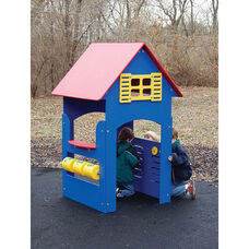 Polyethylene Constructed Tot Town Small Playhouse with Interactive Children