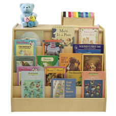 Birch Double Sided Book Display and Storage Unit with Two 12