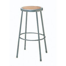 Steel Adjustable Hardboard Seat Stool - 18-27