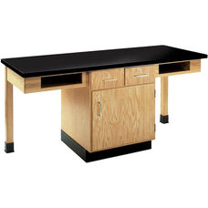 2 Station Wooden Science Table with 1.25