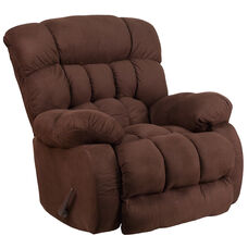 Contemporary Softsuede Fudge Microfiber Rocker Recliner