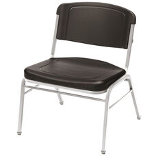 Rough N Ready 350 lb. Capacity Big & Tall Stack Chair - Set of Four - Black