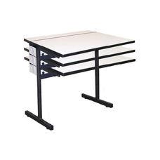 Computer Table w/Adjustable Height Pedestal Base