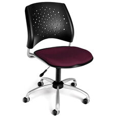 Stars Swivel Chair - Burgundy