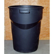 Heavy Duty 32 Gallon Black Rubber Trash Receptacle Liner