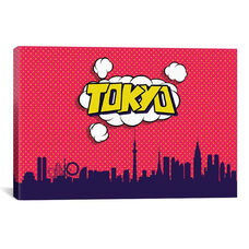 Comic Book Skyline Series: Tokyo by Octavian Mielu Gallery Wrapped Canvas Artwork