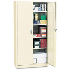 Alera® Assembled 72'' High Storage Cabinet - w/Adjustable Shelves - 36w x 18d - Putty