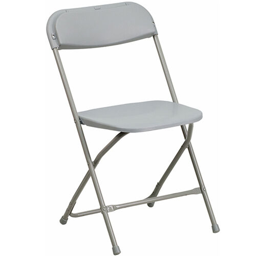 Advantage Gray Poly Folding Chair - Dining Height