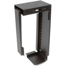 Adjustable Computer Tower Holder for Carrels and Tables