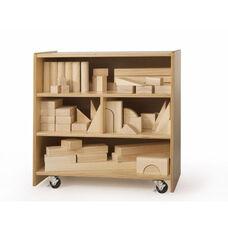 "Small Block Storage Cart in Birch Plywood - 25""W x 14""D x 25""H"