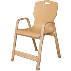 Stacking Bentwood Plywood Kids Chair with Arms - 20.5
