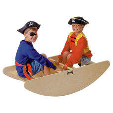 2-in-1 Step Stool and Rocking Boat Toy