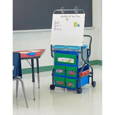 Leveled Literacy System Teacher Trolley with Removable Magnetic Dry Erase Board