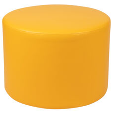 "Large Soft Seating Collaborative Circle for Classrooms and Common Spaces - Yellow (18"" Height x 24"" Diameter)"