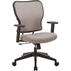 Space 213 Series Deluxe 2 to 1 Mechanical Height Office Chair with Adjustable Arms Chair - Latte