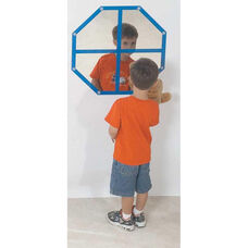Wall Hung Octagon Window Mirror - 22.5
