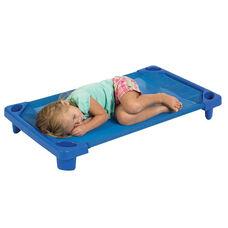 Blue Fully Assembled Toddler Stackable Streamline Cots - 23