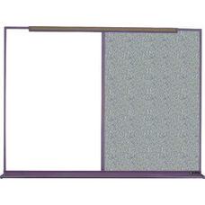 800 Series Aluminum Frame Combination Markerboard and Tackboard - Claridge Cork - 192