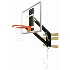 Zip Crank Adjustable Glass Basketball Shooting Station