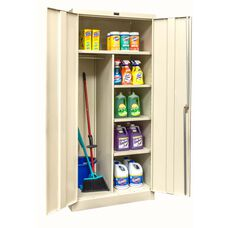 800 Series One Wide Single Tier Double Door Combination Cabinet - Unassembled - Tan - 36