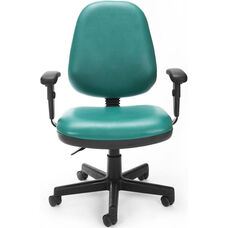 Straton Series Anti-Microbial and Anti-Bacterial Vinyl Task Chair with Arms - Teal