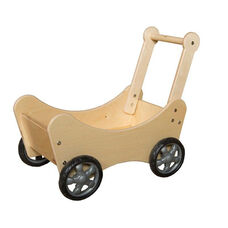 Pretend Play Healthy Kids Plywood Doll Carriage - Assembled - 21.5