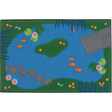 Kids Value Tranquil Pond Rectangular Nylon Rug - 36