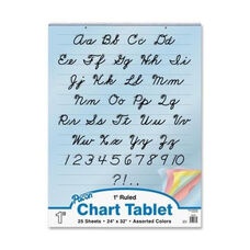 Pacon Colored Paper Charts -Cursive Cover -1
