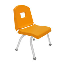 Split Bucket Stacking Chair with 12''H Seat and Ball Glides - Yellow - 17''W x 14''D x 24''H
