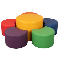"""Soft Seating Collaborative Flower Set for Classrooms and Common Spaces - Assorted Colors (12""""H & 18""""H)"""