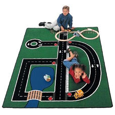 Neighborhood Road Map Rectangular Nylon Rug - 49