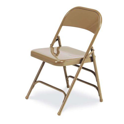 Quick Ship Multi-Purpose Steel Folding Chair with 2 Rear Leg Braces - Golden Bronze Finish - 17.75