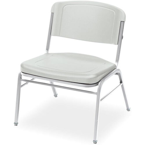 Rough N Ready 350 lb. Capacity Big & Tall Stack Chair - Set of Four - Platinum