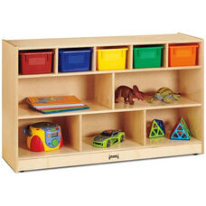 Low Combo Mobile Storage Unit with Colored Trays
