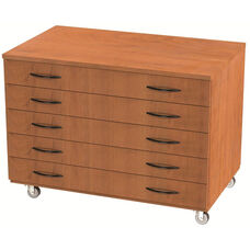 Storage Solution Paper Storage with Drawers with Casters - 36