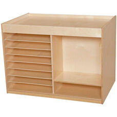 Wooden Mobile Art Storage Center - 40