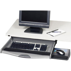 Ergo-Comfort® Premium Under Desk Keyboard Drawer with Non Handed Mouse Tray - Charcoal