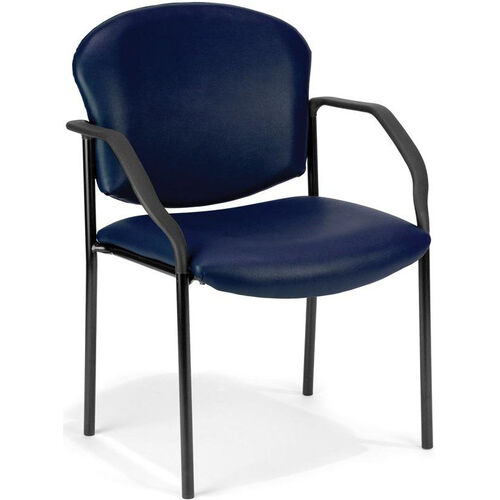 Our Manor Anti-Microbial and Anti-Bacteria Vinyl Guest and Reception Chair with Arms - Navy Vinyl is on sale now.