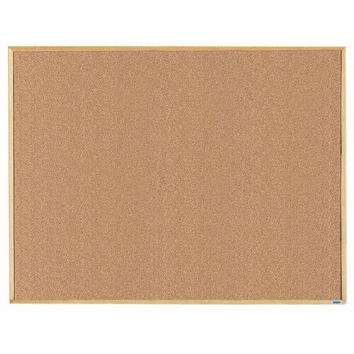 Our Economy Series Natural Pebble Grain Cork Bulletin Board with Wood Frame - 36