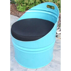 Stormy Mountain Steel Drum Club Chair with Black Accents