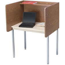 Maximum Privacy FH Starter Carrel with Laminate Surface - 37