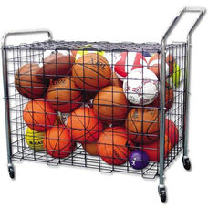 Standard Portable Wire Mesh Lockable Ball Cart with Handle