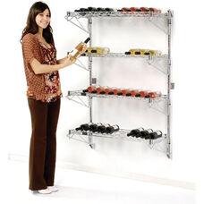 Chrome Single Wide Wall Mount Wine Rack - 18 Bottle Capacity - 14