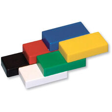 Assorted Colored Thick Rectangular Ceramic Magnets - Set of 6