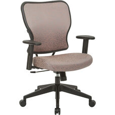 Space 213 Series Deluxe 2 to 1 Mechanical Height Office Chair with Adjustable Arms Chair - Salmon