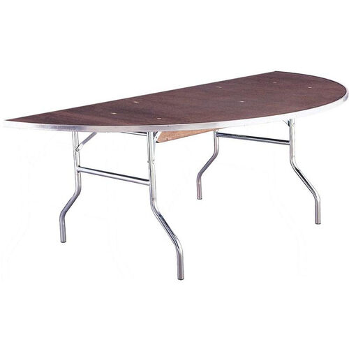 Standard Series Half Round Banquet Table with Plywood Top - 30