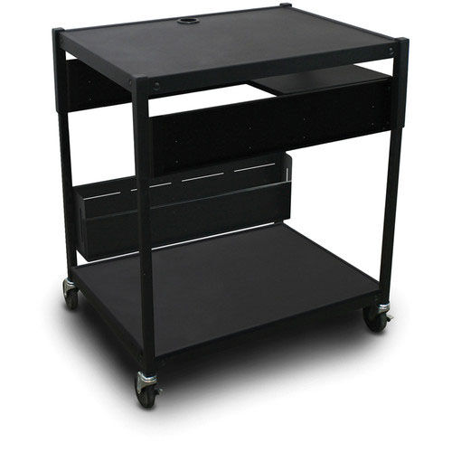 Our Spartan Series Adjustable Media Projector Cart with One Pull-Out Side-Shelf - Black is on sale now.