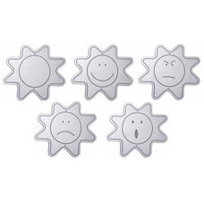 Childrens Educational Shatter Proof Acrylic Emotion Mirrors: 5 Pack
